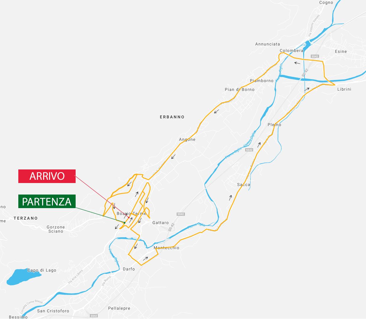 Planimetria Campionati italiani ciclismo 2021 Boario Terme Donne Junior