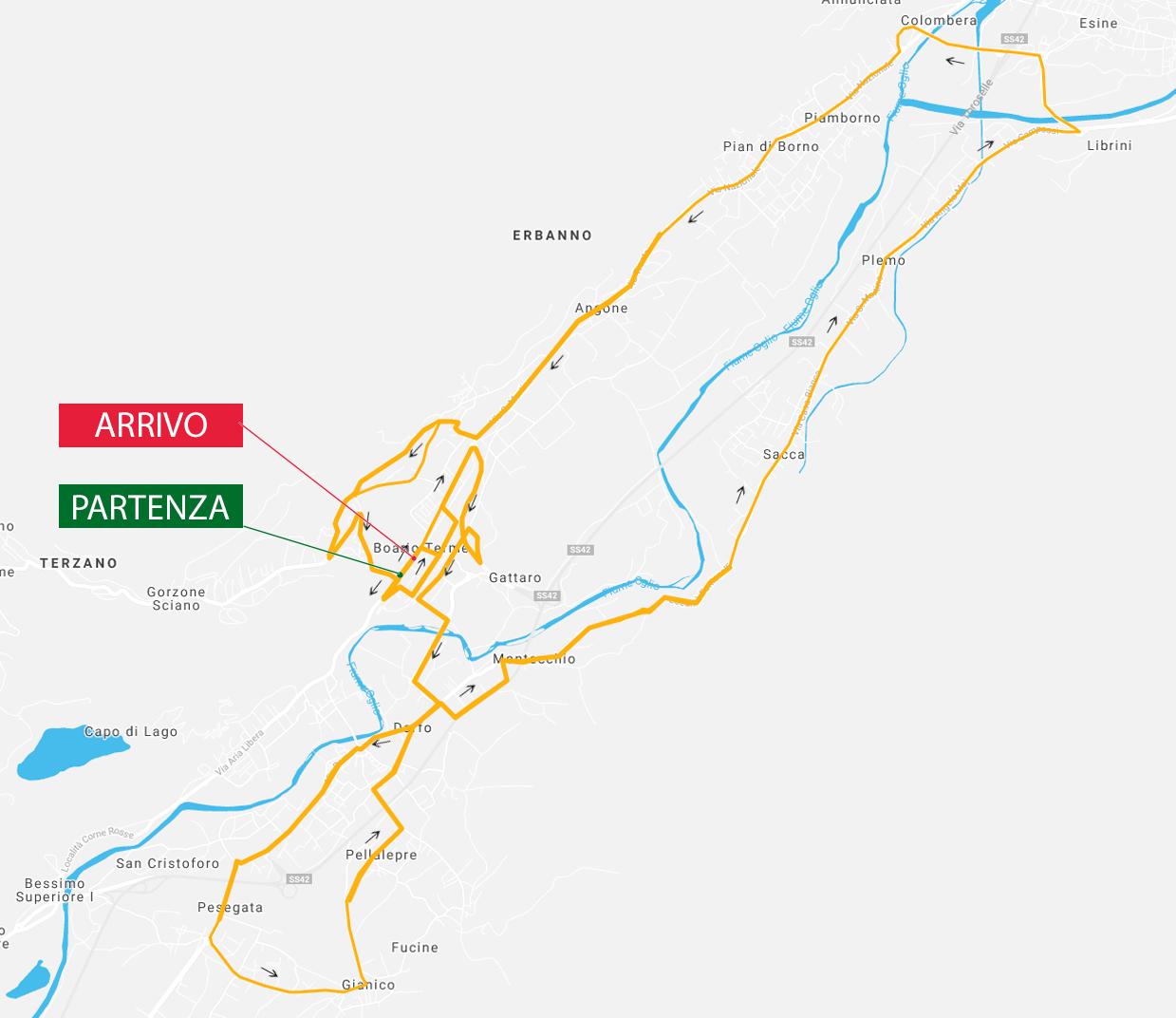 Planimetria Campionati italiani ciclismo 2021 Boario Terme Juniore